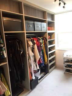 A Totally Bespoke Walk In Wardrobe Pull Out Shoe Rails Hanging