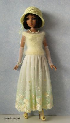 OOAK pastel yellow outfit for ELLOWYNE, by *evati* via eBay, ends 4/2/14