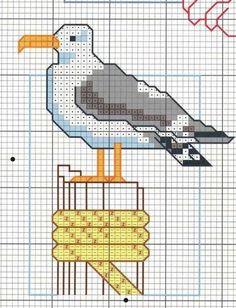 pier seagull cross stitch -