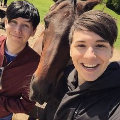 Dan, Phil and a Horse Lucky Horse