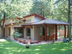 facades for country houses - 13 Great ideas of facades for country houses - fachadas para casas de c Style At Home, Mexico House, Country House Plans, Country Houses, Village Houses, Houses Houses, Facade House, Traditional House, Home Fashion
