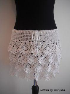 crochet ruffle skirt pattern pdf nr 48 | marifu6a - Patterns on ArtFire