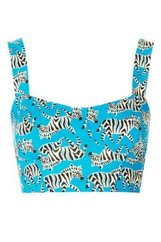 Zebra Cupped Bralet Top -