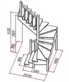 standards of wooden stairs: 12 thousand images . Spiral Stairs Design, Staircase Design Modern, Home Stairs Design, Interior Stairs, Door Design, Design Design, Metal Stairs, Attic Stairs, Wooden Stairs