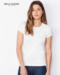 T-shirt-Donna-Girocollo-Pesante-Bella-Canvas-BE1001A