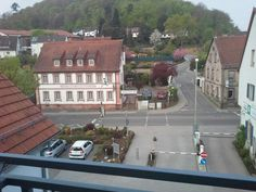 View from hotel balcony in Landstuhl,  Germany