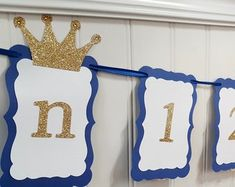Princess Photo Banner in pink and gold. First Birthday Garland. Custom Colors Princess Photo Banner in pink and gold.