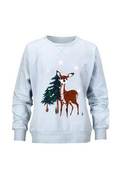 Orangecookie: Cath Kidston (Cath Kidston) Bambi pattern sweat shirt trainer / light blue / Lady's jersey - Purchase now to accumulate reedemable points! Cath Kidston Patterns, Christmas Jumpers, Christmas Fashion, Bambi, Brand Identity, Trainers, Light Blue, Graphic Sweatshirt, Global Market