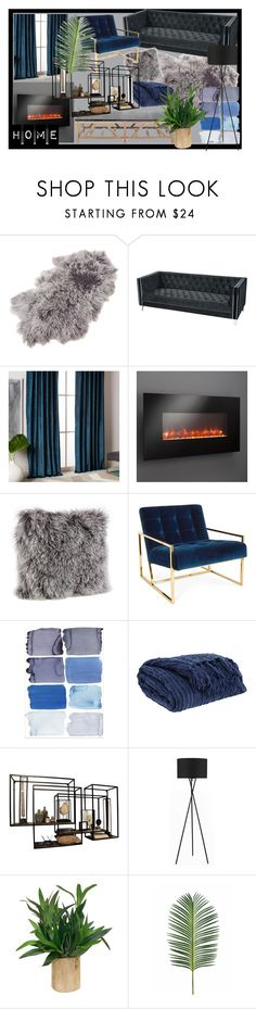 """home2"" by alina-makela on Polyvore featuring interior, interiors, interior design, home, home decor, interior decorating, Saro, ELK Lighting, West Elm and The Outdoor GreatRoom Company"