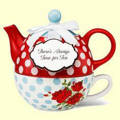 Tea for One Set Porcelain Floral Chintz