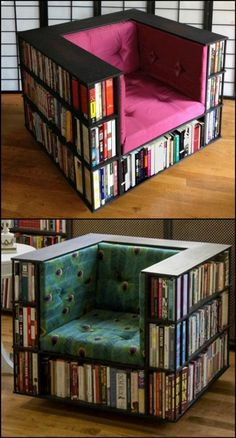 Enjoy reading on this DIY bookshelf chair - home garden, # on # by # bookshelf . - Enjoy reading this DIY bookshelf chair – home garden, the -