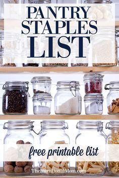 Do you have pantry staples list? Do you know how a pantry inventory checklist can save you time, stress & money? Stay out of the drive thru, make a healthy meal your family loves & have a meal re Pantry Staples List, Pantry List, Pantry Labels, Pantry Ideas, Pantry Organization, Organizing Tips, Cleaning Hacks, Money Saving Mom, Emergency Preparation