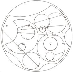 """Inspiration: art.  [""""I open at the close."""" in Circular Gallifreyan.]  Harry Potter and Dr. Who mash-up.  I could do anything and everything with this, I love it.  This may be ALL over my house sometime soon."""