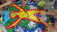 Participantes de congreso ambiental crearon escultura