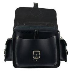 CAMERA BAG BLACK - Black Leather Camera Bag