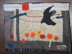 janet bolton - loved her work for a long time. Small Quilts, Mini Quilts, Janet Bolton, Fabric Postcards, Fabric Pictures, Textiles, Sewing Appliques, Quilt Stitching, Textile Artists