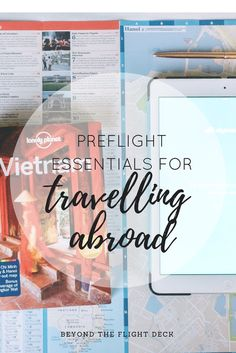 Preflight Checklist - Essentials for Travelling Abroad Flight Deck, Beauty Review, Travel Abroad, Blog, Blogging