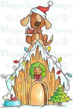 Xmas Doghouse - Christmas Images - Christmas - Rubber Stamps - Shop