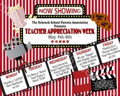 Teacher Appreciation Week Sign Printable 16 x 20 - some good ideas and a great way to promote it. Volunteer Appreciation, Teacher Appreciation Gifts, Teacher Gifts, Teacher Appreciation Breakfast, Teacher Breakfast, Teacher Treats, Staff Gifts, Teachers Week, Nurses Week