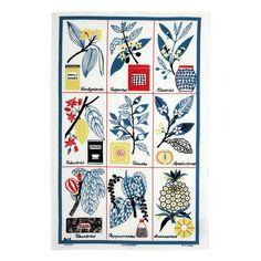 Kulturväxter Kjøkkenhåndkle 47x70cm, Blå, Almedahls