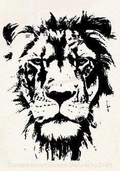 Find Hand Drawn Lion Natural Colors Illustration stock images in HD and millions of other royalty-free stock photos, illustrations and vectors in the Shutterstock collection. Lion Stencil, Stencil Art, Large Stencils, Custom Stencils, Lion Silhouette, Lion Tattoo Design, Lion Art, Lion Wall Art, Black And White Painting