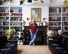 Showing off your collections -- at the home of artist Ron English in Poughkeepsie, NY