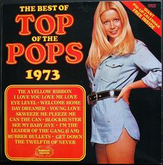 The Best Of Top Of The Pops LP compilation featuring more anonymous covers of hits than you can shake a flared trouser leg at. Complete with giant pin-up calendar poster. Playlists, Lps, Nostalgic Music, Posters Uk, Pop Albums, Pochette Album, Lp Cover, Artist Album, Cover Songs