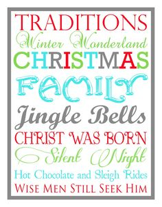 {Christmas Subway Art} Free Printable that incorporates Jesus too!