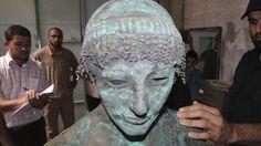 Statue of Greek god Apollo found in Gaza Strip