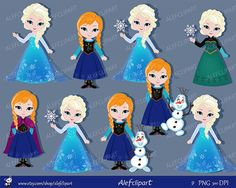 Only Elsa, Only Anna,Clipart Snow Princess Digital Clipart, Princess Clipart. Little Mermaid Clipart, The Little Mermaid, Frozen Birthday Party, Frozen Party, Pelo Princesa Disney, Mermaid Princess, Disney Princess, Classroom Crafts, Princess Costumes