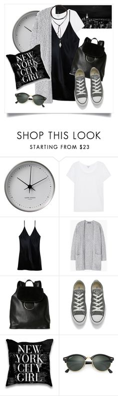 """""""My style in New York"""" by solespejismo ❤ liked on Polyvore featuring Georg Jensen, Splendid, Fleur du Mal, MANGO, French Connection, Converse, Ray-Ban, Vanessa Mooney, StreetStyle and travel"""