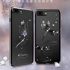 >> Click to Buy << Original Kingxbar Crystals Electroplated PC Case sFor Apple iphone 7 / 7 plus Phone cases from Swarovski Rhinestone Case Cover #Affiliate