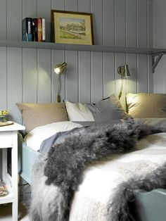 I really want these kinds of lights above my bed for reading