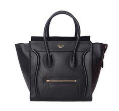 Celine Handbags Luggage Square Black