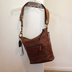You can never go wrong with Coach Rich leather you can never go wrong with Coach adjustable strap Coach Bags Shoulder Bags