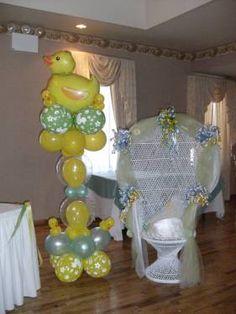 balloon decor for baby shower