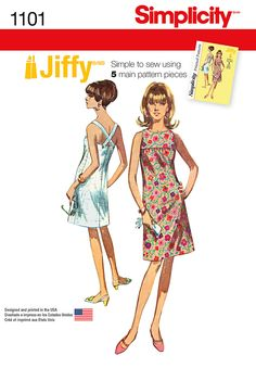 1101 Simplicity Creative Group - Misses' Jiffy Dresses
