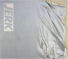 """Steven Parrino, """"Jerk Left, Jerk Right"""", 1989."""
