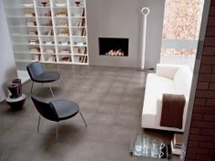 Tile on photo: Refin Avantgarde Savane. For more tile info please log on to our website www. Floors And More, Living Room Flooring, Wall And Floor Tiles, Fireplace Wall, Basic Style, Classic Elegance, Next At Home, Kitchen Tiles, Interior And Exterior