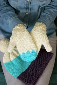 Knitting Patterns for making these Arched Gusset Mittens and Classic Cuffed Hat