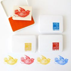 Primary Color Ink Pad Set