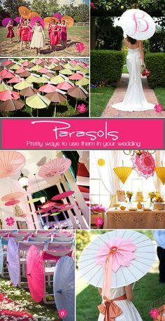 Creative ways to use wedding parasols #parasols #weddingaccessories #weddingdecor