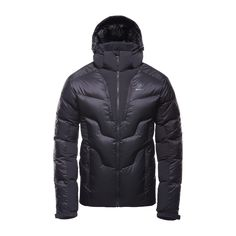 Athletic Down Jacket – Caviar – FRONT – PAW6003