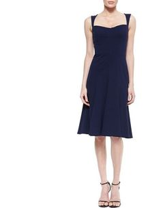 DAVID MEISTER Blue Sleeveless Dress Navy 10 NWT Cocktail Sassy1.8 #DavidMeister #flare #Cocktail