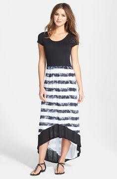 kensie Textured Stripe Maxi Dress