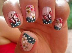 37 Cute Butterfly Nail Art Designs Ideas You Should Try Nail Art Designs, Butterfly Nail Designs, Butterfly Nail Art, Pedicure Designs, Nails Design, Monarch Butterfly, Flower Designs, French Manicure Nails, French Tip Nails