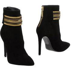 Pierre Balmain Ankle Boots (1.625 BRL) ❤ liked on Polyvore featuring shoes, boots, ankle booties, black, black leather booties, black booties, short black boots, black bootie boots and black leather ankle booties