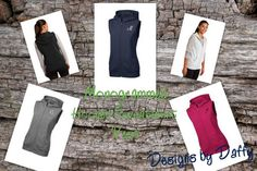 Monogrammed Hooded Fleece Vest by DesignsbyDaffy on Etsy, $34.95