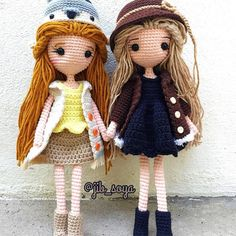 #amigurumi #cute #crochet #handmade #girl #gift #jibsoya Crochet Dolls, Knit Crochet, Crochet Hats, Little Doll, Little Girls, A Hook, Amigurumi Doll, Projects To Try, Teddy Bear