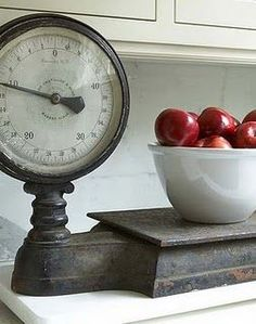 Vintage Grocery Hanging Scale Clock Hanging scale Scale and